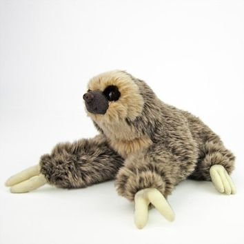 COLORATA Real Plush Stuffed Animal Two-toed Sloth Sprawl Series from Japan