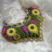 Paradise Polymer clay Apllique Pendant by Lena Handmade Jewelry