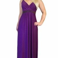Long Evening Summer Party Holiday Maxi Dress Purple Tall 150cm By MontyQ