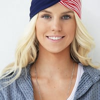 The 'Merica Patriotic Fourth Of July Stars and Stripes Turban Headband