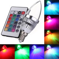 LED Light Bulb E14 16 Color Changing Light With Remote Control