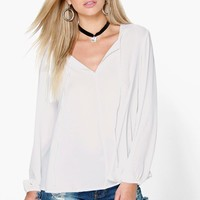Lucy Tie Neck Blouse