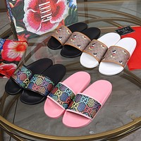 Gucci Disney canvas slippers