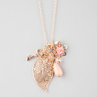 Full Tilt Sweet Leaf Charm Necklace Gold One Size For Women 25909871301