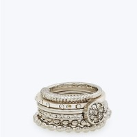 Silver Foxy Stacking Ring Set