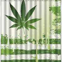CannaFlag Waterproof Shower Curtain - CannaCurtains