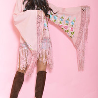 Coachella Must Have Pink Fringe Tunic