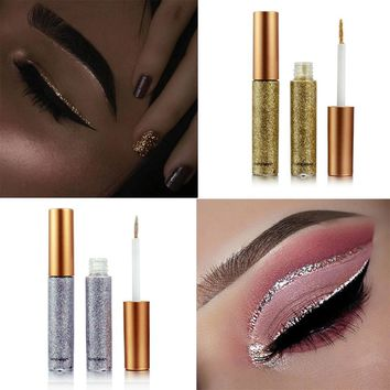 Glitter Eye Make Up Liner  Easy to Wear Waterproof  Red White Gold