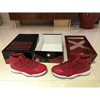 Air Jordan 11 Retro AJ 11 All Red Basketball Shoe 36-47
