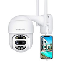 Security Camera Outdoor, with Floodlights, Color Night Vision, 2-Way Audio, Motion Detection