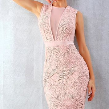 Maddie Bandage Lace Dress
