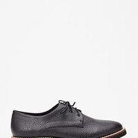 Textured Faux Leather Oxfords
