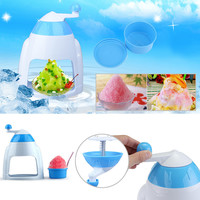 Portable Hand Crank Manual Ice Crusher Shaver Shredding Snow Cone Maker Machine Kitchen Appliance