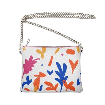 Abstract Leaf & Plant Crossbody Bag With Chain by The Photo Access