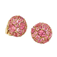 Couture Morocco Pink Tourmaline Stud Earring