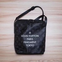 LV Louis Vuitton MONOGRAM CANVAS NANO Fragment BUCKET SHOULDER BAG
