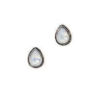Faux Gemstone Teardrop Studs