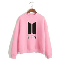 KPOP BTS Bangtan Boys Army   Hoodies Hoodie Cotton For Women Men  Boys Letter Printed Casual Supportive  Album Moletom   2018 AT_89_10
