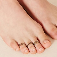 Etched Toe Ring Set | Forever 21 - 1000221846