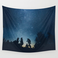 Follow the stars Wall Tapestry by HappyMelvin