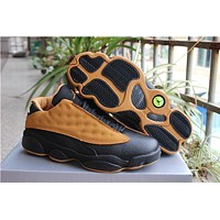Air Jordan Retro 13 Low Chutney Men Basketball Shoes 13s Chutney Yellow Sports Sneakers With Shoes Box