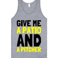 Patio and a Pitcher-Unisex Athletic Grey Tank