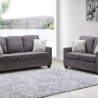 2PC Sofa and Loveseat Set
