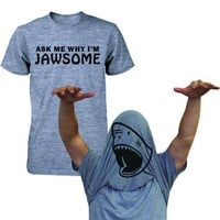 Ask Why I'm Jawsome Flip Up T-shirt Funny Shirt For April Fool's Halloween