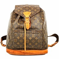 Auth LOUIS VUITTON MONTSOURIS GM MONOGRAM CANVAS BACK PACK HAND BAG AUTHENTIC LV