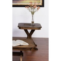 Sunny Designs 3237AC-E Savannah End Table In Antique Charcoal