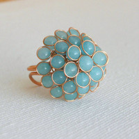 Blue Berry Step Ring [3177] - $16.00 : Vintage Inspired Clothing & Affordable Fall Frocks, deloom | Modern. Vintage. Crafted.