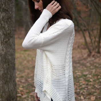 Windows of Warmth Sweater In Ivory