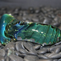 Extra Thick Green Twisty Handmade Heady Glass Pipe