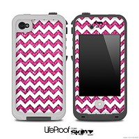 Chevron Pattern With Pink for the iPhone 5 or 4/4s LifeProof Case