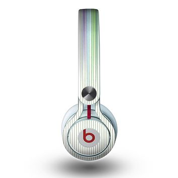 The Faded Pastel Color-Stripes Skin for the Beats by Dre Mixr Headphones