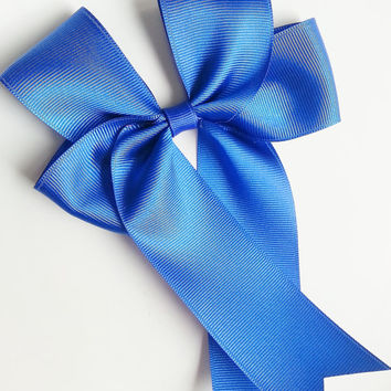 Large Hairbow, Pony Hairbow, Cheer Bow, Royal Blue Bow, Blue Bow