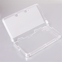 Newest 1pc Hard Transparent Plastic Crystal Case Clear Skin Cover Protective Shell For Nintendo For 3DS (not for 3DS XL LL)