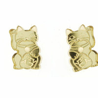 Lucky Cat Earrings