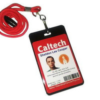 Best  two sided The Big Bang Theory Sheldon Cooper ID Halloween Costume prop