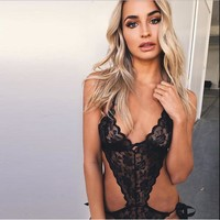 Cute On Sale Hot Deal Summer Women's Fashion Hot Sale Lace Hollow Out Sexy Exotic Lingerie [9724808195]
