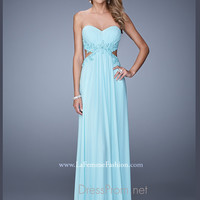 Strapless Sweetheart La Femme Formal Prom Gown 20826