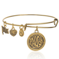 Alex and Ani LAUGH pendant charm bracelet,a perfect gift !