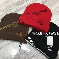 Balenciaga Fashion Women/Men Winter Knit Hat