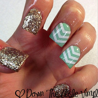 Single Chevron Nail Decals - Set of 60
