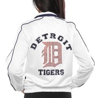 Detroit Tigers Tag Up Full Zip Track Jacket - White
