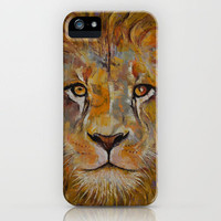 Lion iPhone Case by Michael Creese   Society6