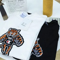 """Champion"" Unisex Multicolour Tiger Head  All-match Fashion Letter Logo Embroidery Long Sleeve Sweater Tops"