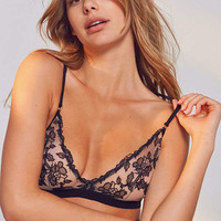 Out From Under Gigi Floral Mesh Triangle Bra   Urban Outfitters