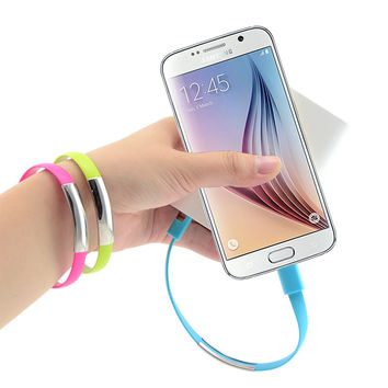 Mobile Phone Bracelet USB Data Charging Cable - Samsung S3 S4 S6 A3 A5 A7 Note 2 4 M9 M8