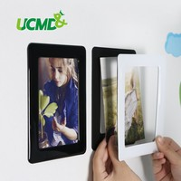 Wall Sticker Magnetic Photo Picture Frames Wall Decor Movable Flexible Colorful Square Frame Picture Frames for Wall 5 Pcs / Lot